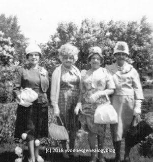 Julie Vanasse and her sisters Celia, Cora and Aggie