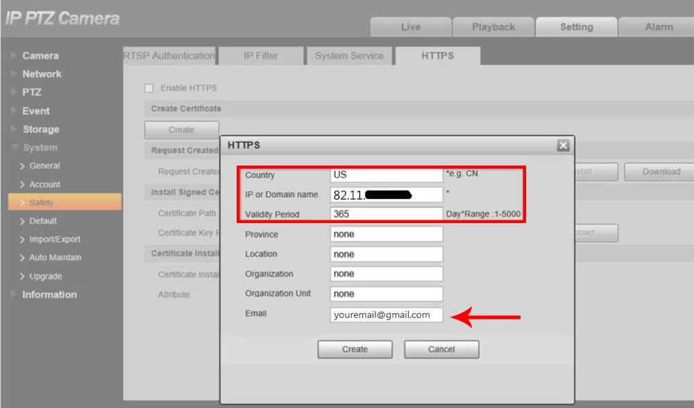 HTTPS Certificate Setup on Dahua