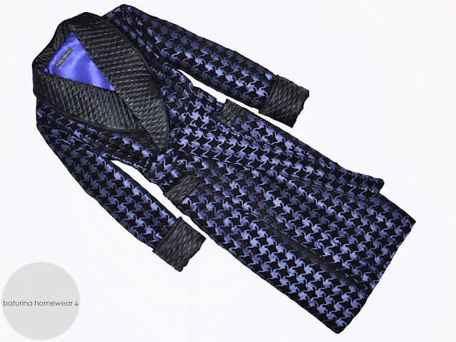 mens quilted silk dressing gown victorian dandy smoking jacket vintage robe blue black extra long warm lined heavy thick
