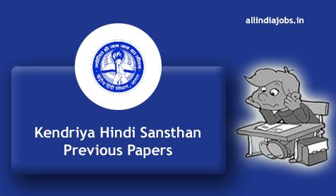 Kendriya Hindi Sansthan Peon Previous Papers PDF Download