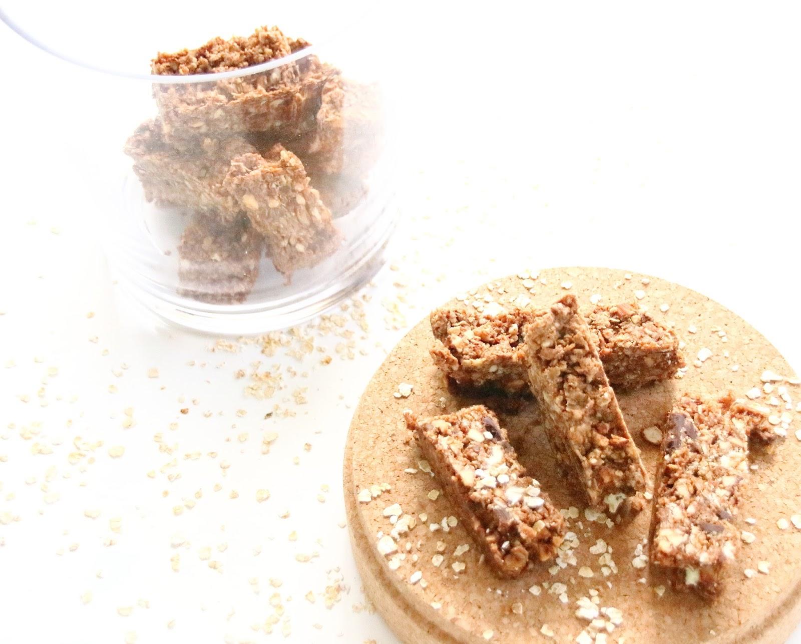 Triple chocolate almond granola bars