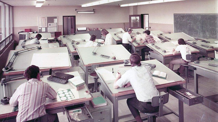 19 Stunning Vintage Pictures That Depict How People Used To Work Before AutoCAD Existed