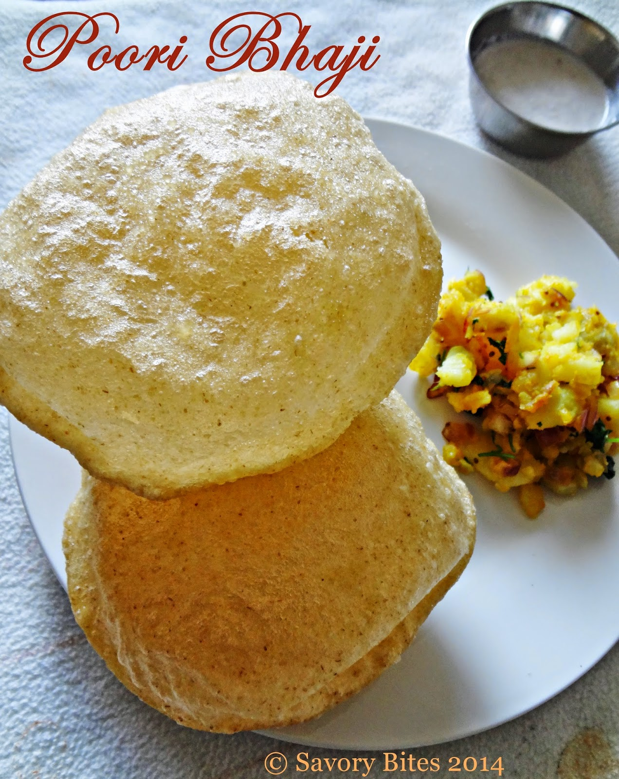 Poori Bhaji Breakfast Puffed Poori