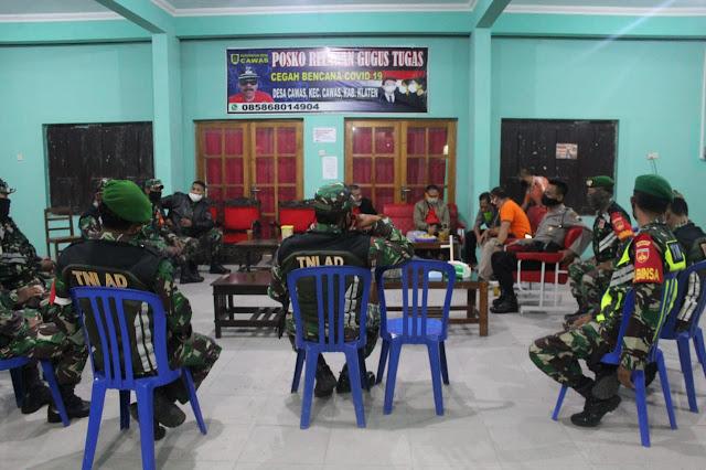 TNI Polri Lakukan pengawasan ketat  Cegah Covid 19 di Cawas