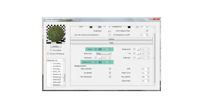 V-ray material editor: Grass settings