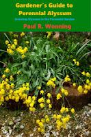 A photo of a book cover featuring perennial allysum flower