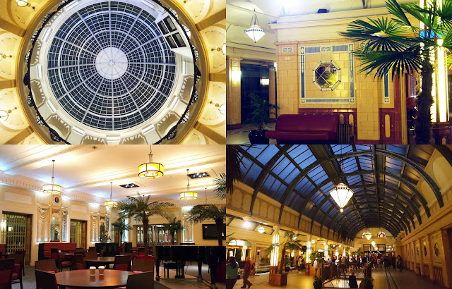The dome, hallway, and coffee shop in Winter Gardens Blackpool