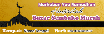 Contoh Desain Banner Bazar Ramadhan
