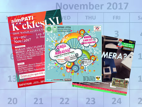 jadwal event bandung bulan November 2017