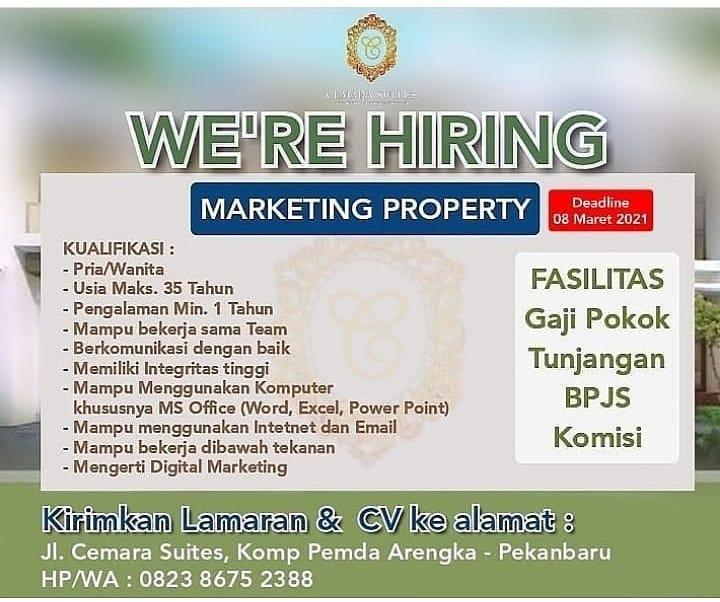 Lowongan Kerja Marketing Property Maret 2021 Karir Riau