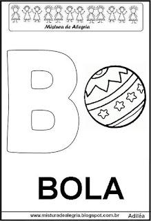 Alfabeto cartaz letra B
