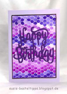 Happy Birthday, Geburtstag, Karte, diy, technik verschiedene HIntergrund Variationen mit dem Stampin' Up! Stempel all wired up und Farben, Idee von Stampin' Up! Demonstratorin in Coburg