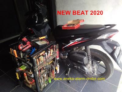 Cara pasang alarm motor remote Honda Beat New 2020