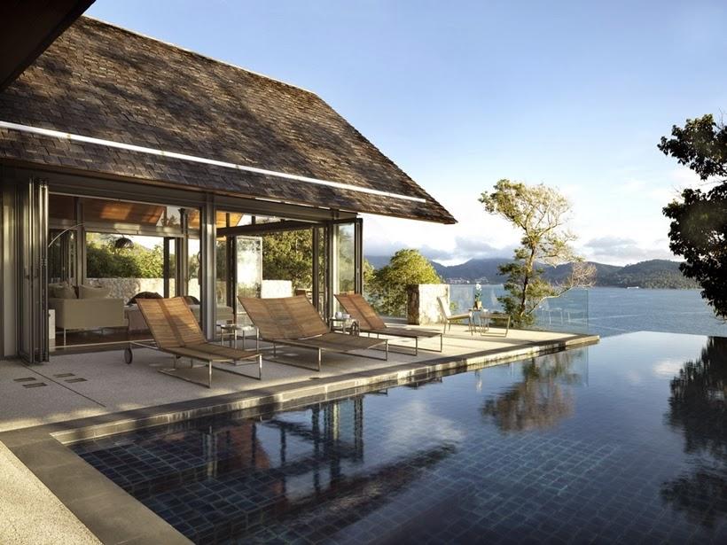 Terrace In Villa With Contemporary Asian Design
