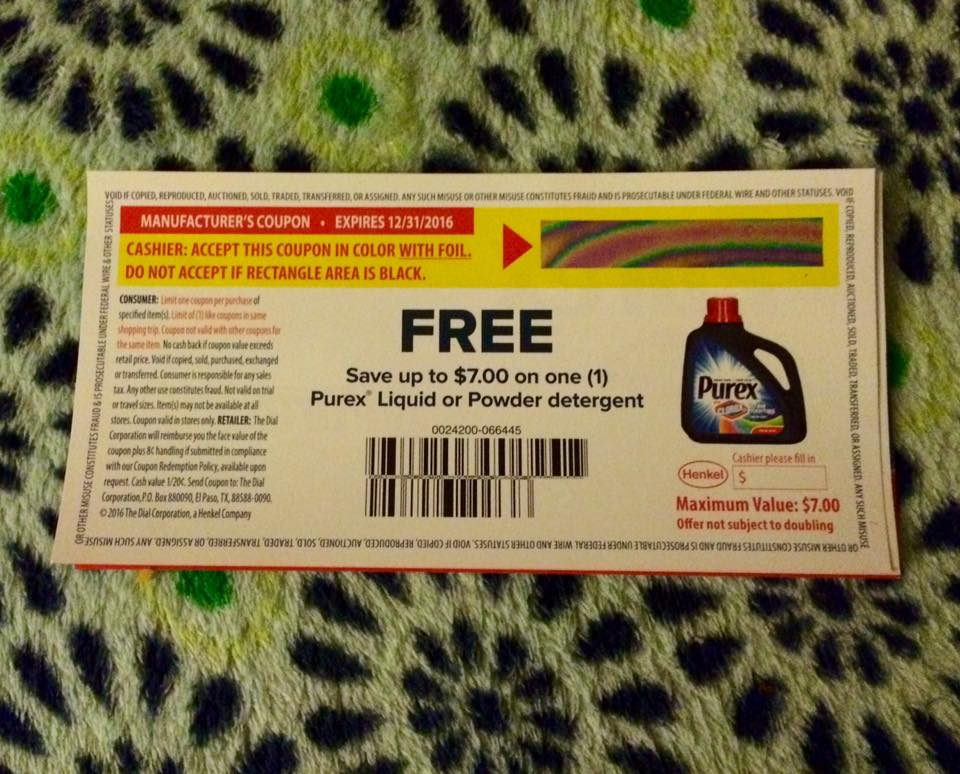 Purex laundry coupons canada
