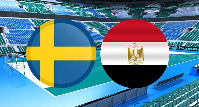 ملخص واهداف مباراة مصر والسويد اليوم