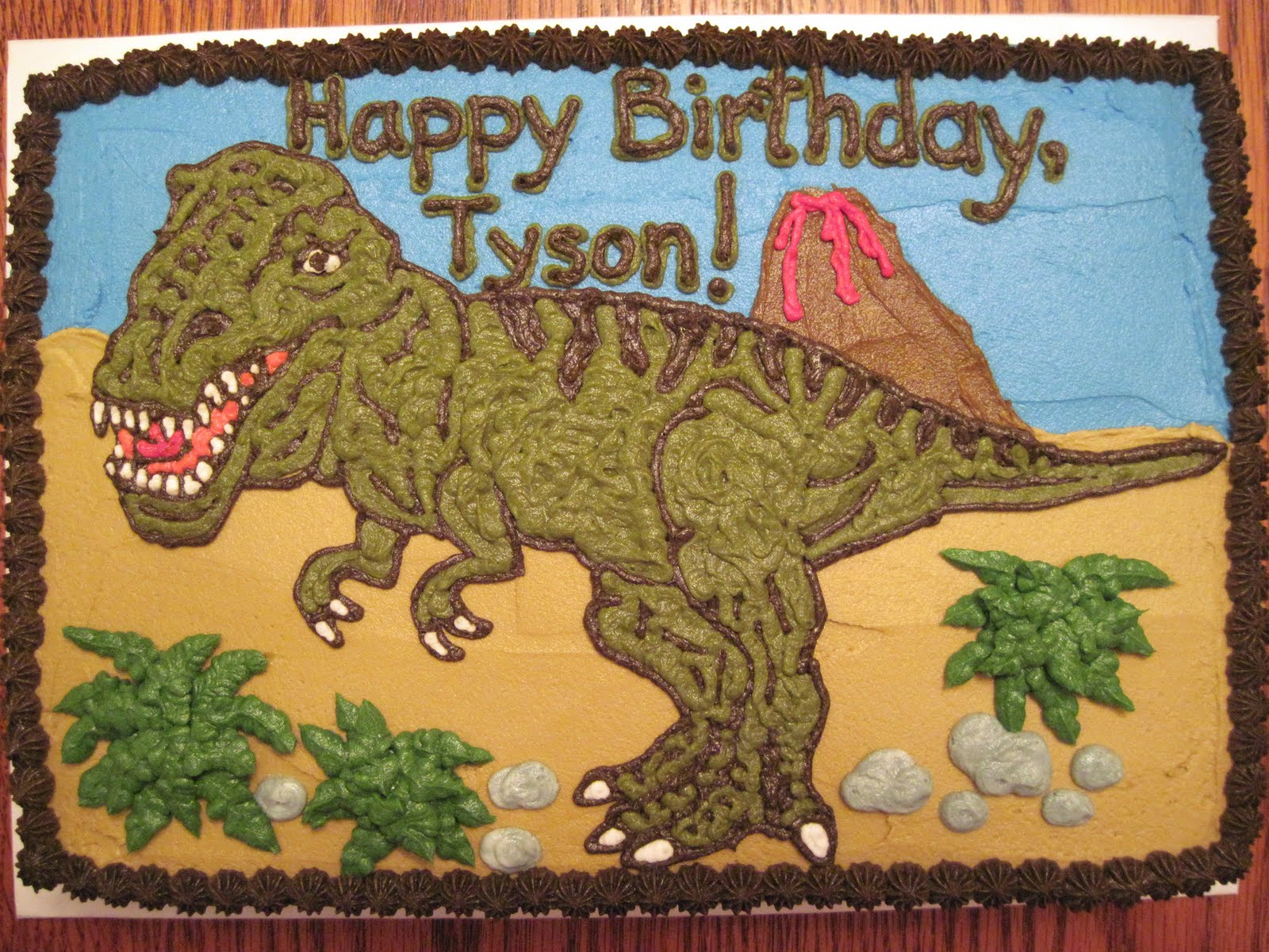 Erins Custom Cakes TYrannosaurus Rex Cake