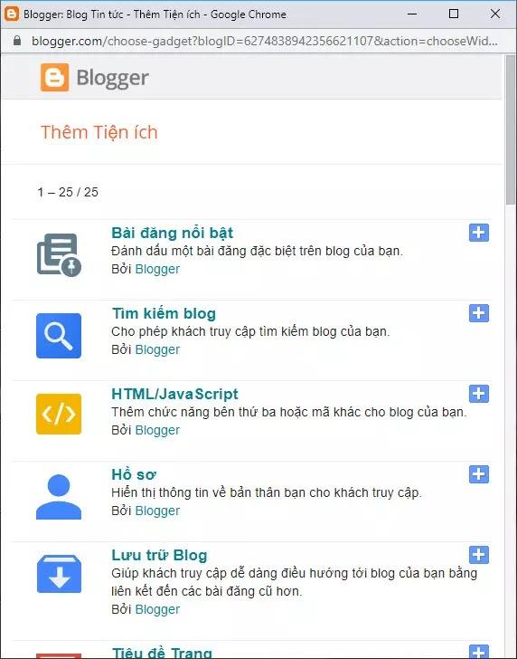 Cách đặt điều kiện css, js cho các loại tiện ích blogspot