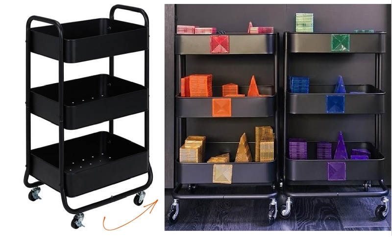kmart trolley magnetic tile storage