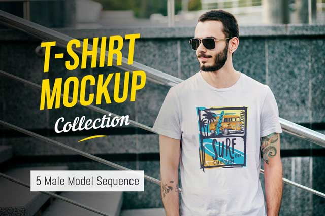 T-Shirt Mockup Collection 03