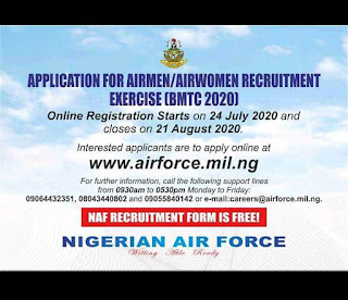 NAF Airmen/Airwomen Recruitment Exercise (BMTC 2020)