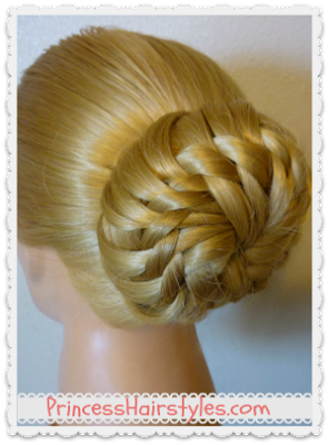 Gorgeous bun for Prom or wedding hairstyle. Video instructions.