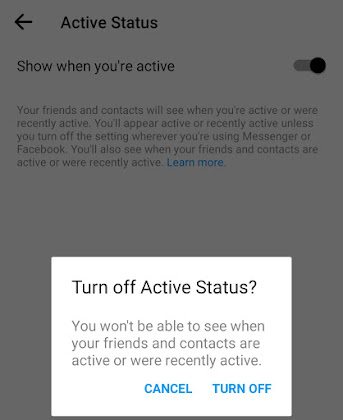 Turn off active status
