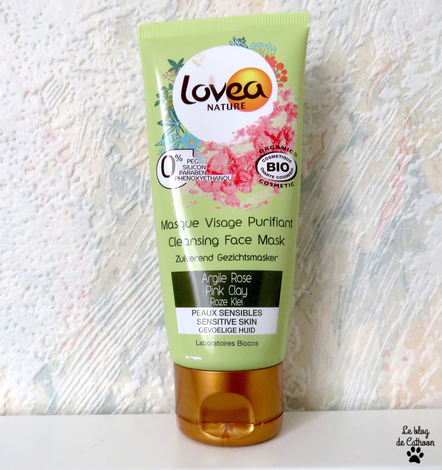 Lovea Nature Masque Visage Purifiant à l'Argile Rose
