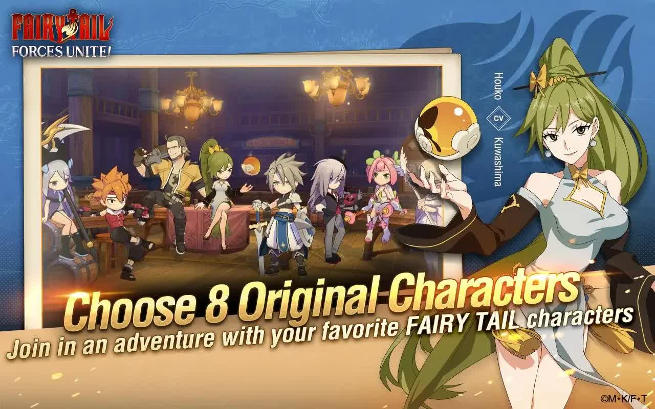 FAIRY TAIL Forces Unite heroes