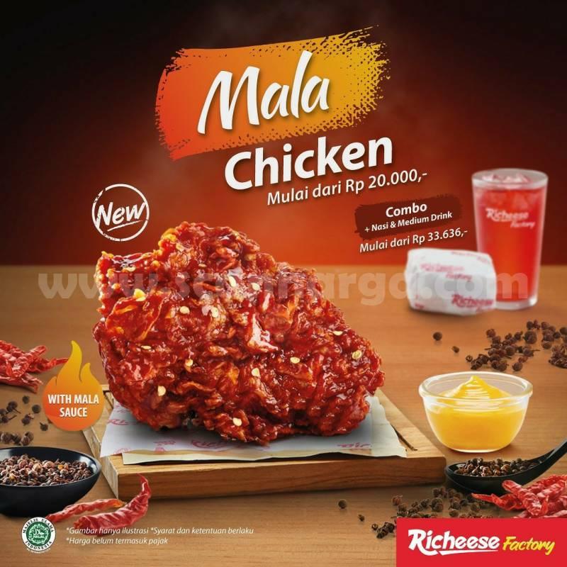 Richeese Factory Mala Chicken Harga mulai Rp. 20.000