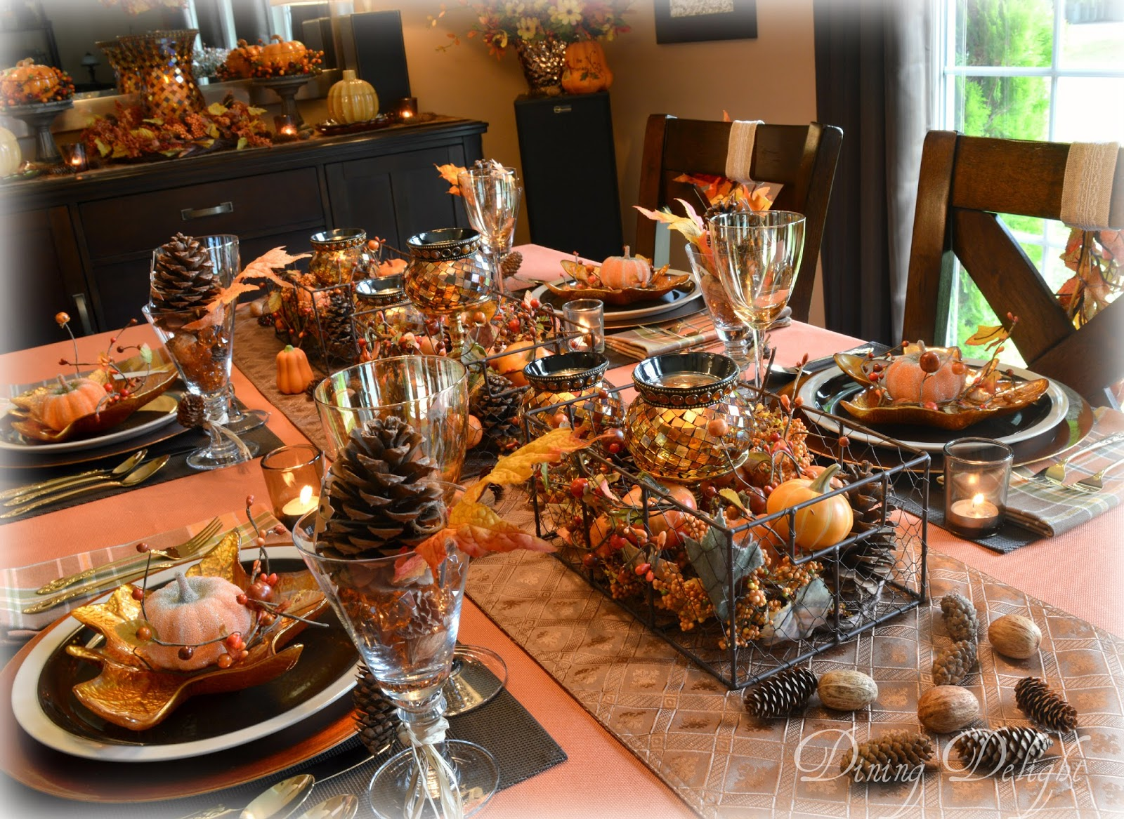 Dining Delight Autumn In The Mountains Tablescape