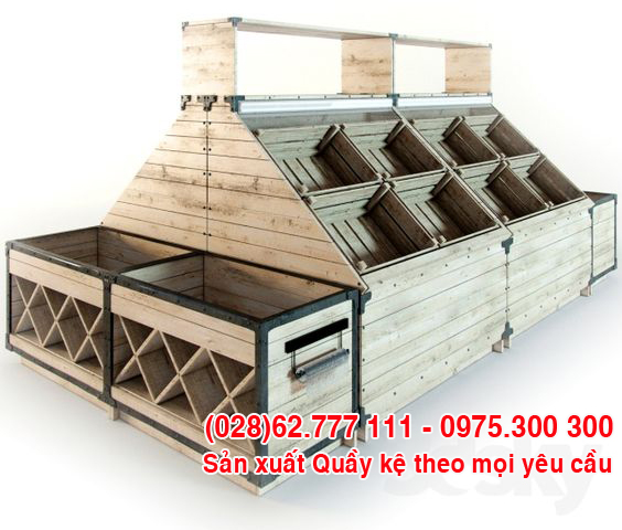 Quầy kệ gỗ trưng bày hàng