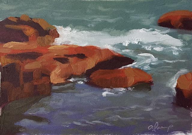 study in 3 values sea rocks Feb-23-2019