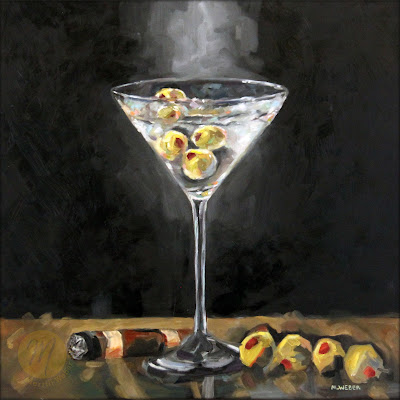 martini-with-cigar-oil-painting-merrill-weber