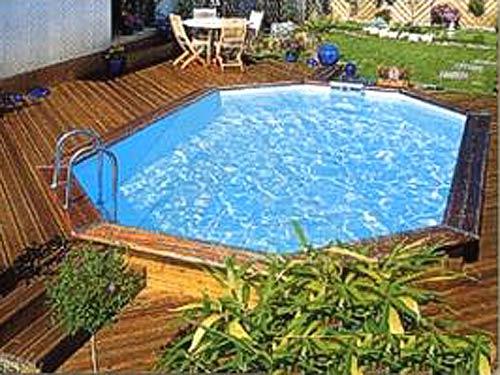 Arredo piscina giardino tavolo allungabile vetro temperato alluminio satinato trasparente - Piscina da esterno prezzi ...