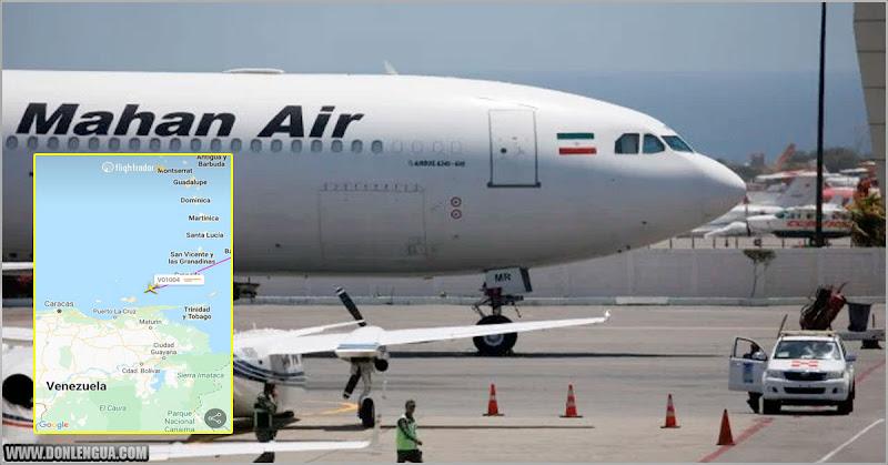 Avión de procedencia Iraní aterrizó en Paraguaná procedente de Teherán