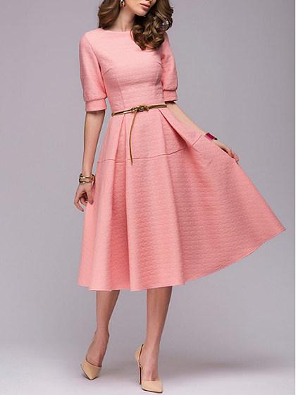 https://www.sebellamore.com/item/round-neck-patchwork-plain-skater-dress-380766.html