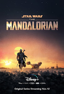 Mandalorian in the sunset poster