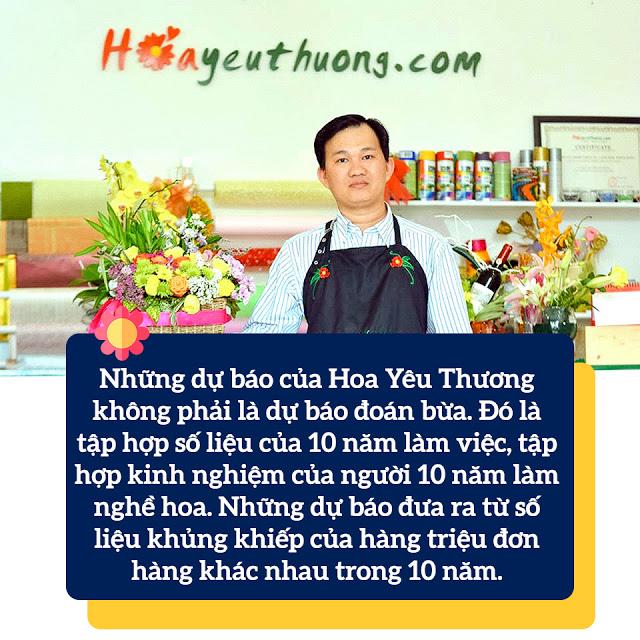 Những dự báo về ngành hoa qua 10 năm kinh doanh của anh Phạm Hoàng Thái Dương