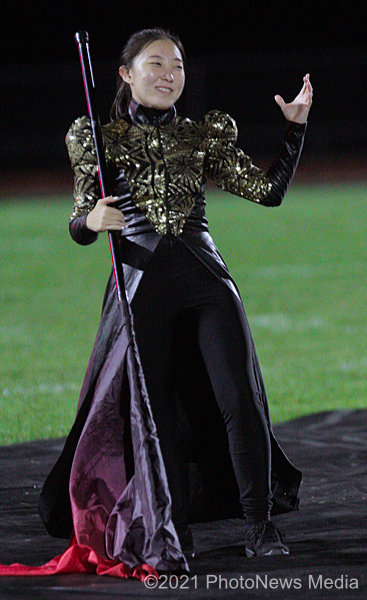 Eri Shimada performs with the SJO Marching Band