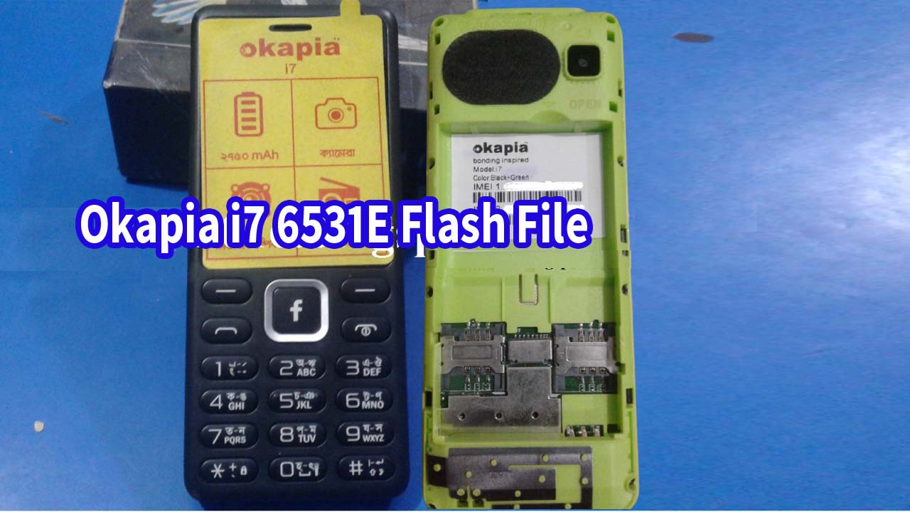 Okapia i7 Flash File (Stock Firmware). You can easily download after install the flash file on your mobile phone