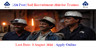Sail Recruitment 2016 for Trainee