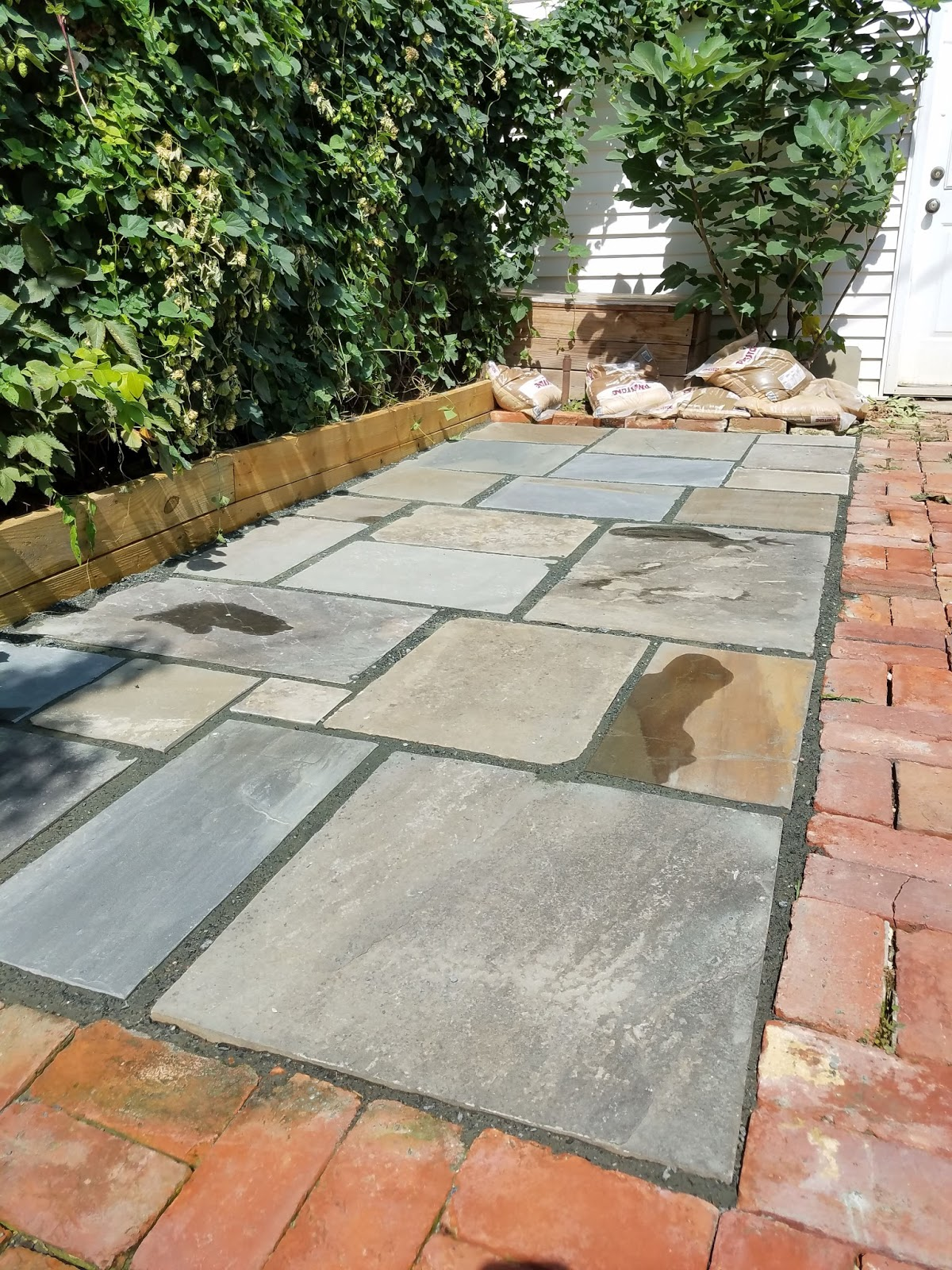 Custom Stoneworks Design Inc Flagstone Section In Existing