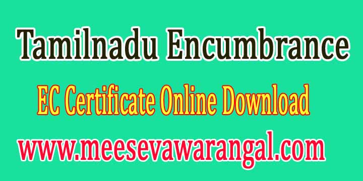 Tamilnadu Encumbrance EC Certificate Online Download