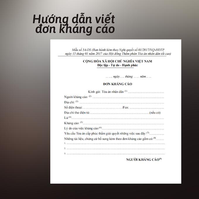Hướng dẫn viết đơn kháng cáo trong vụ án dân sự