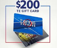 Vinci gratis un buono regalo Tennis Express da $ 200