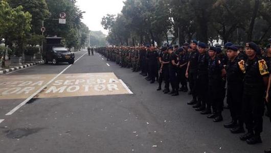 Polisi Akan Bubarkan Aksi Kawal Sidang MK Bila Lewat Jam 6 Sore