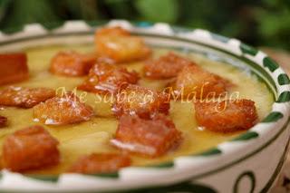 receta de zahínas de Istán Málaga
