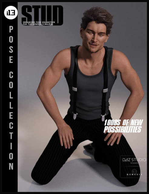 i13 Stud Pose Collection for the Genesis 3 Male