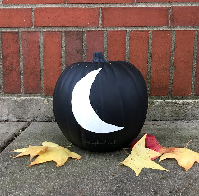 DIY Moon Pumpkin